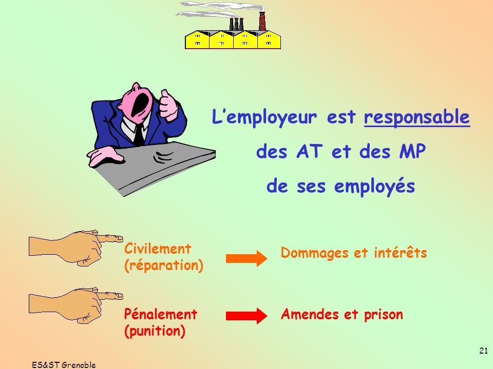 L'employeur est responsable
