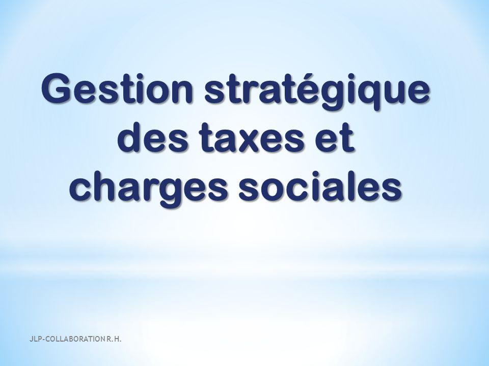 des taxes et charges sociales