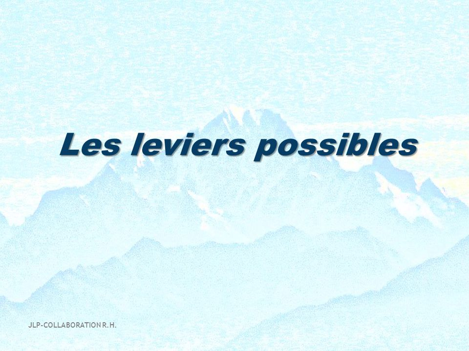 Les leviers possibles JLP-COLLABORATION R.H.