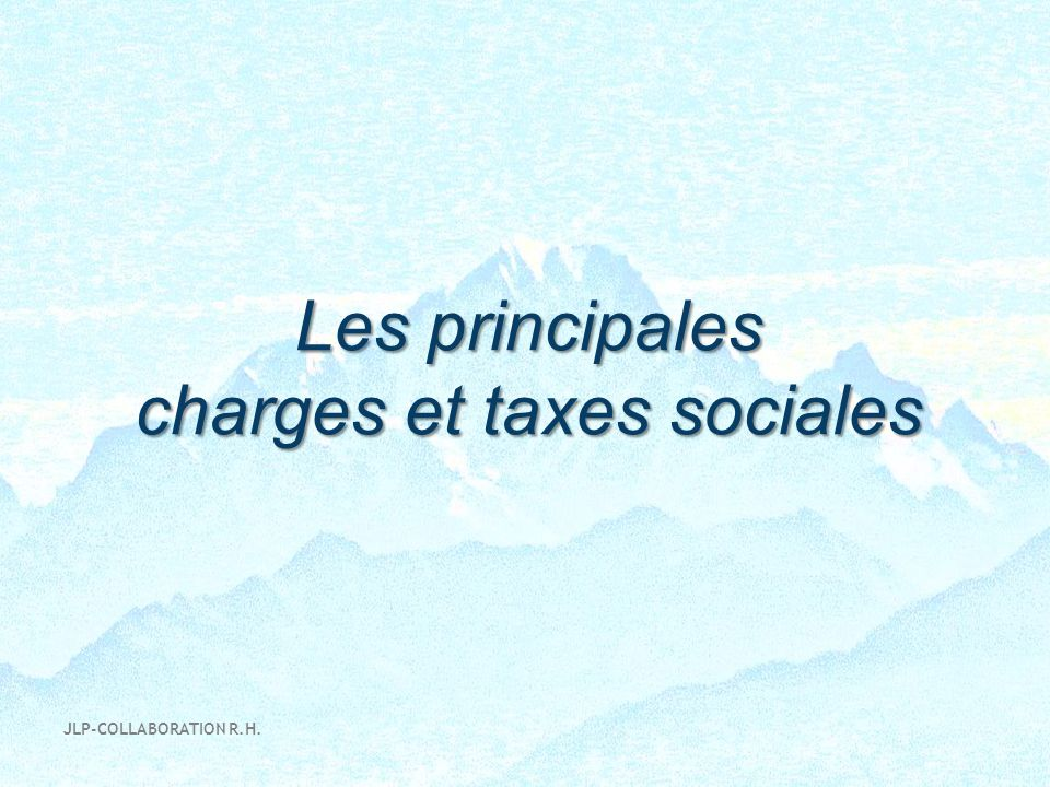 charges et taxes sociales