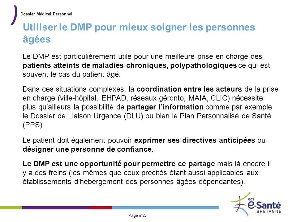 Utiliser le DMP pour mieux soigner les personnes âgées