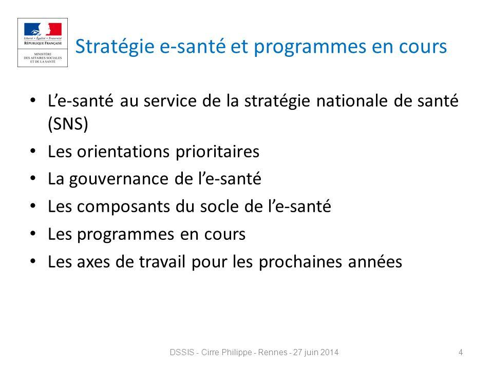 Stratégie e-santé et programmes en cours