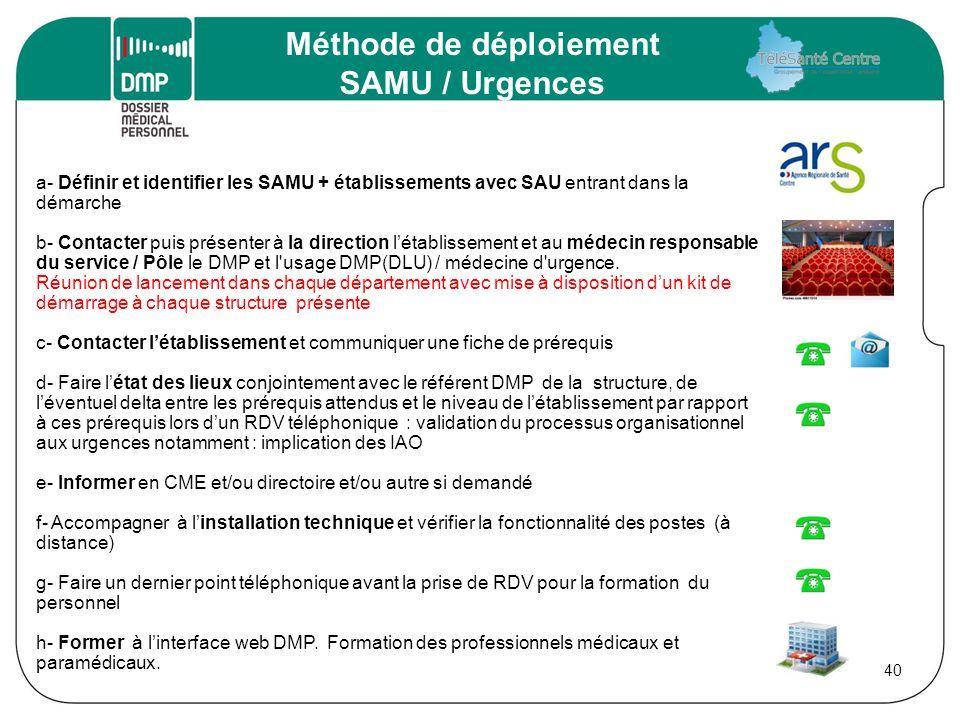 Méthode de déploiement SAMU / Urgences
