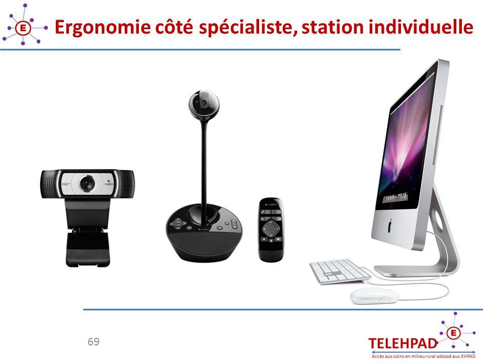 Ergonomie côté spécialiste, station individuelle