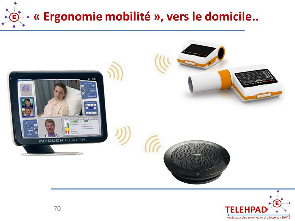 « Ergonomie mobilité », vers le domicile..
