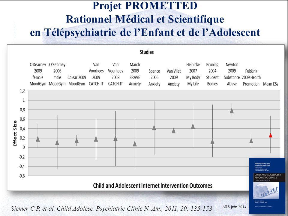 Projet PROMETTED Rationnel Médical et Scientifique en Télépsychiatrie de l'Enfant et de l'Adolescent