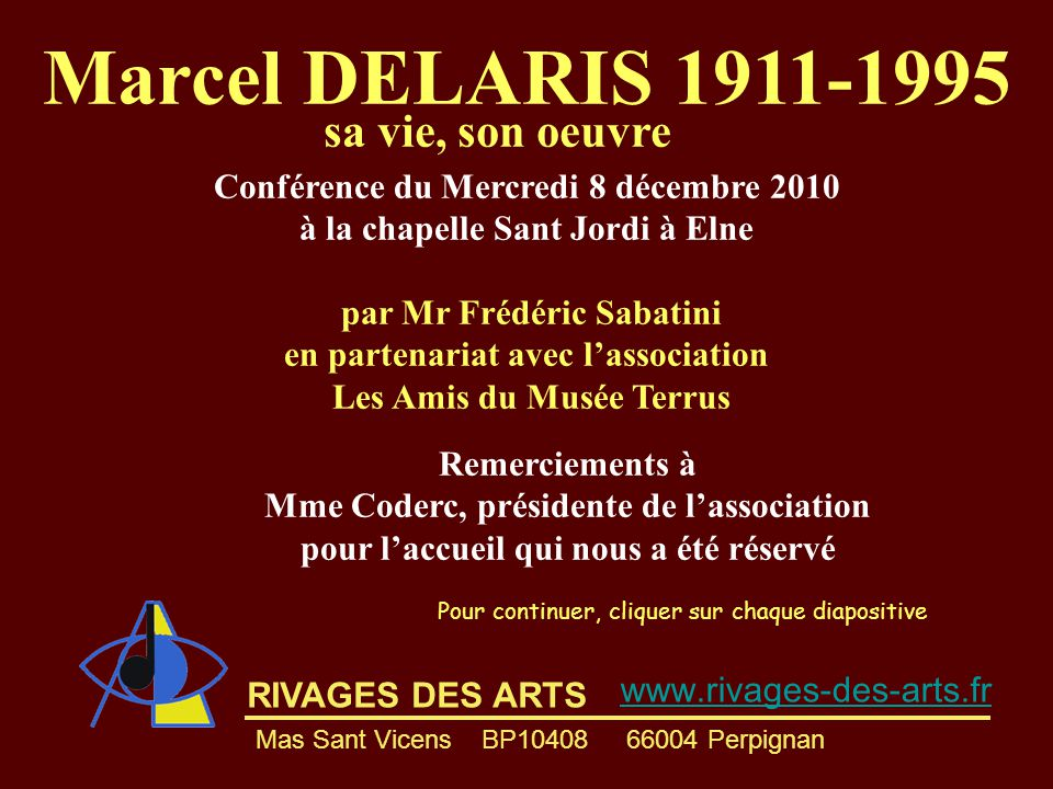 Marcel DELARIS 1911-1995 sa vie, son oeuvre