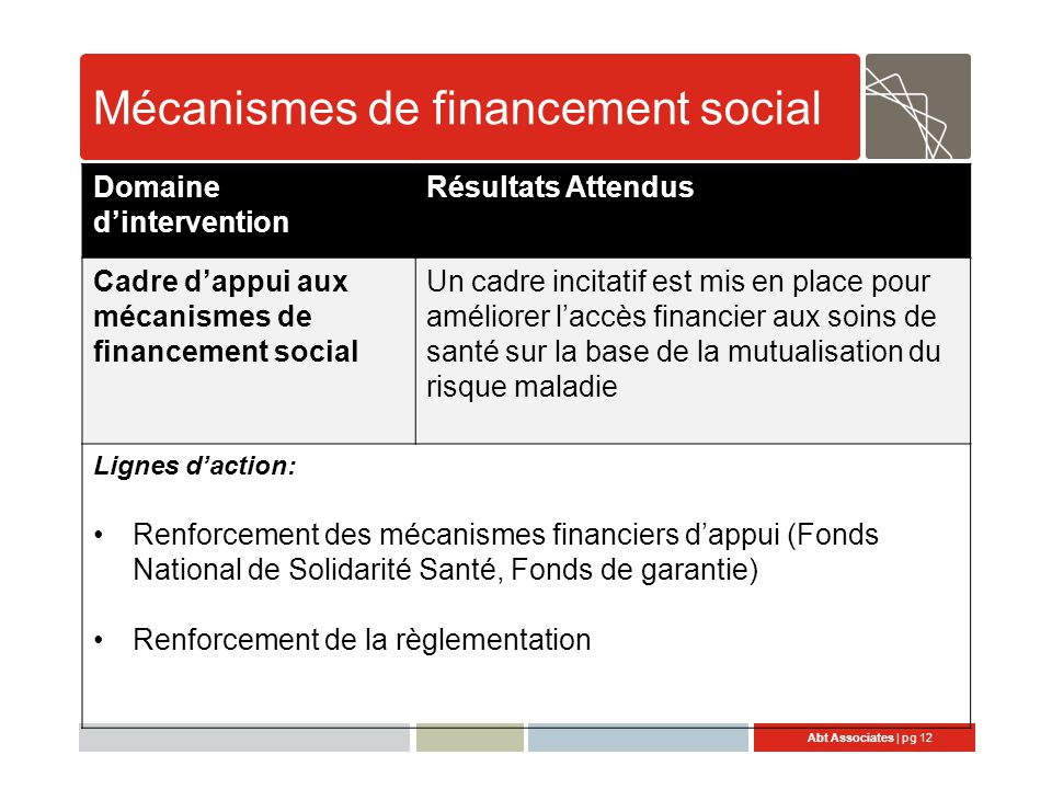 Mécanismes de financement social