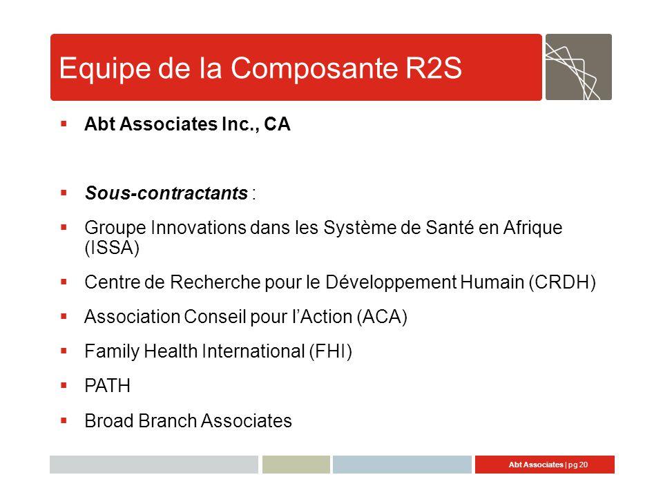 Equipe de la Composante R2S