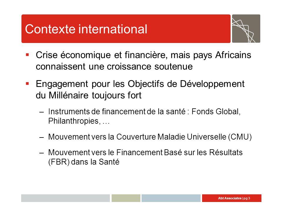 Contexte international