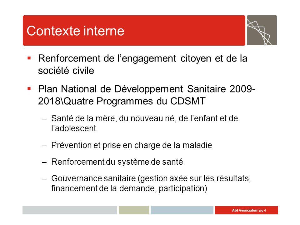 Contexte interne Renforcement de l'engagement citoyen et de la société civile.