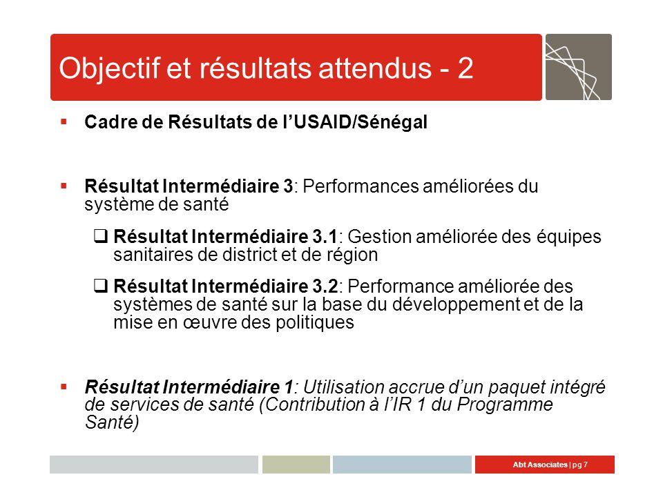 Objectif et résultats attendus - 2