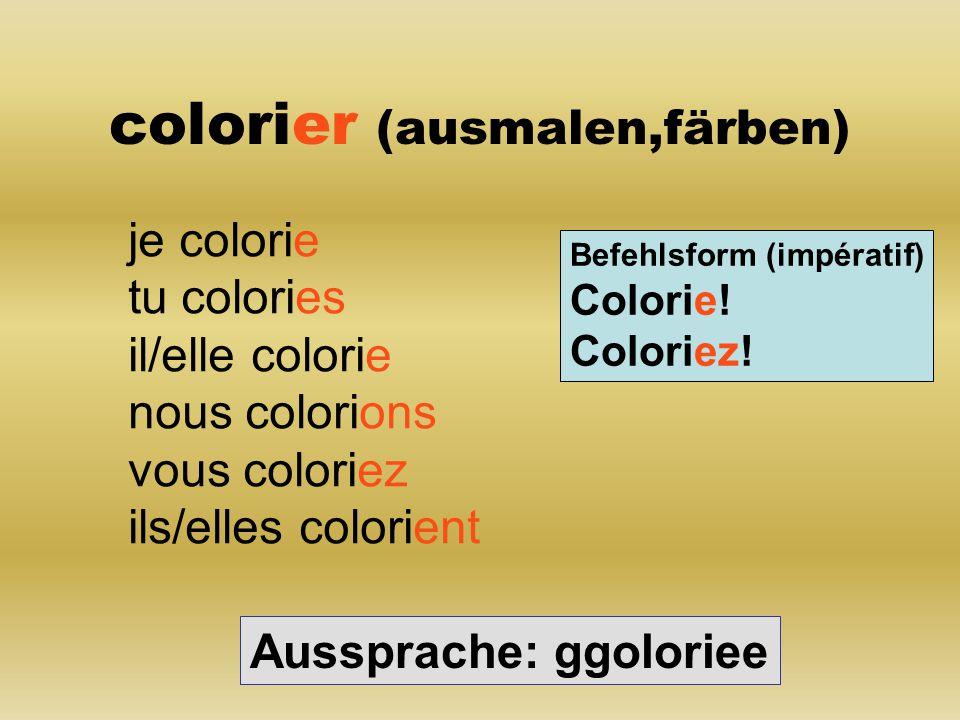 colorier (ausmalen,färben)