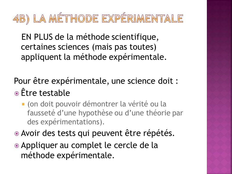 4b) la méthode expérimentale