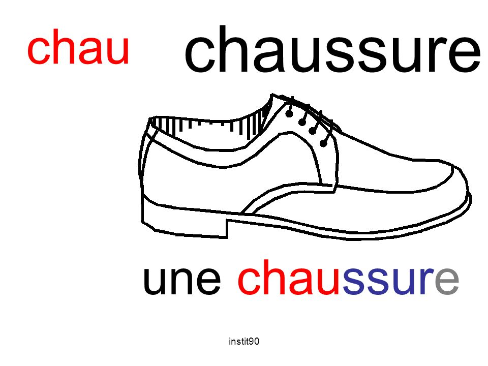 chaussure chau une chaussure instit90
