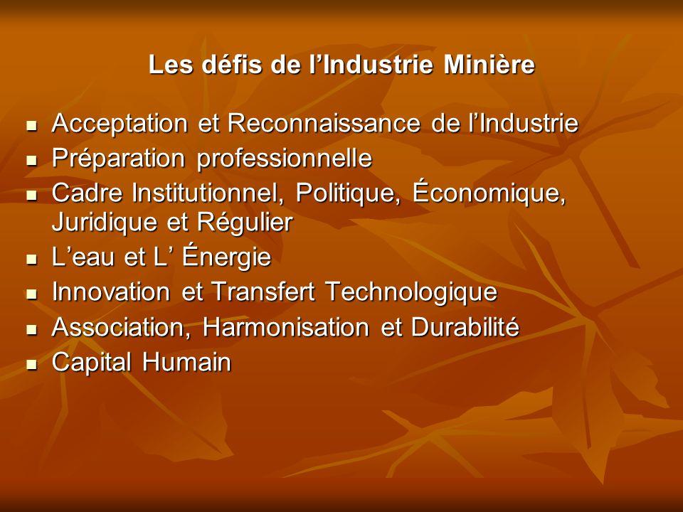 Les défis de l'Industrie Minière