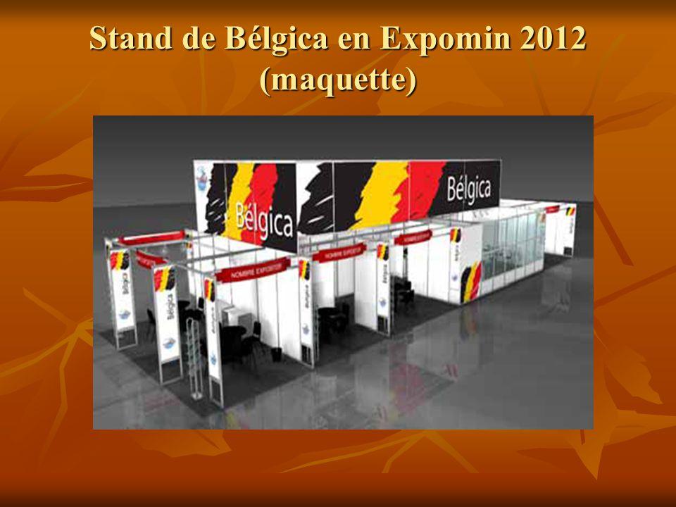 Stand de Bélgica en Expomin 2012 (maquette)