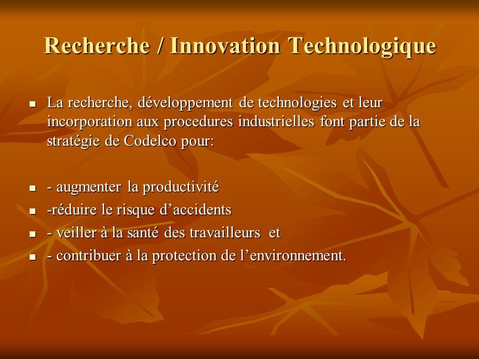 Recherche / Innovation Technologique