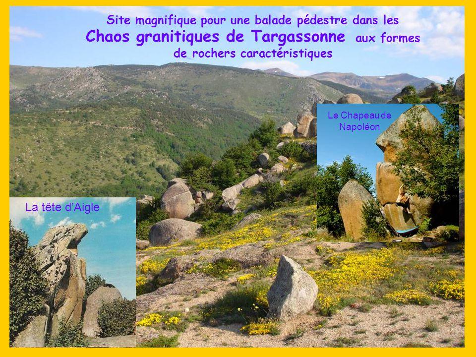 Site magnifique pour une balade pédestre dans les Chaos granitiques de Targassonne aux formes de rochers caractéristiques
