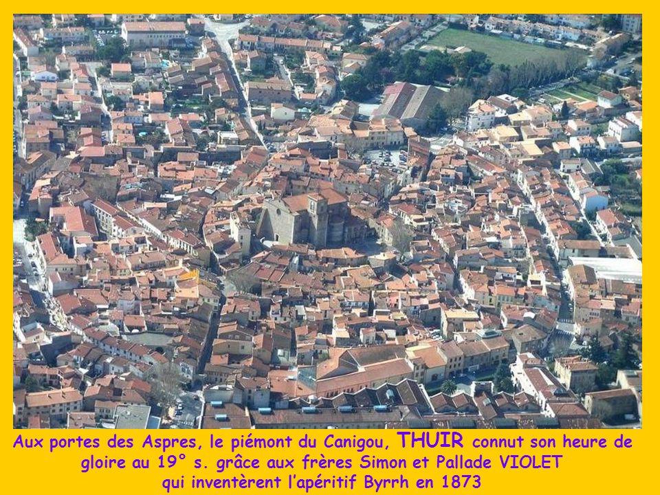Aux portes des Aspres, le piémont du Canigou, THUIR connut son heure de gloire au 19° s.