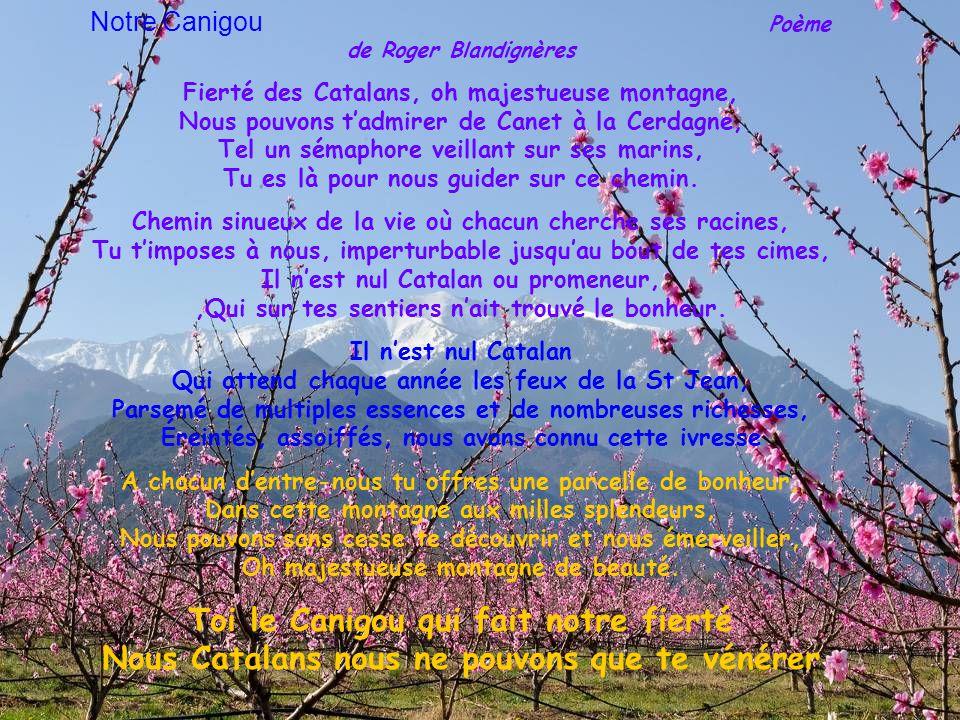 Notre Canigou Poème de Roger Blandignères