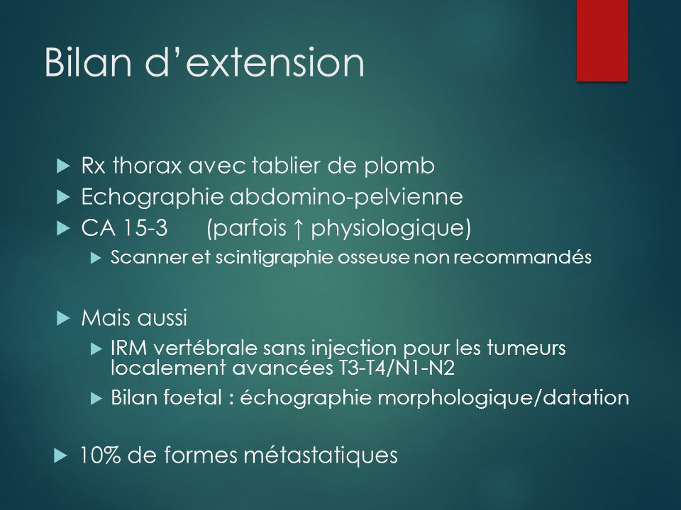 Bilan d'extension Rx thorax avec tablier de plomb