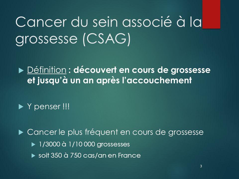 Cancer du sein associé à la grossesse (CSAG)
