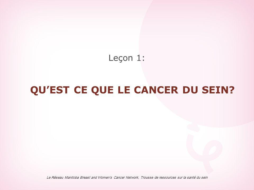 QU'EST CE QUE LE CANCER DU SEIN