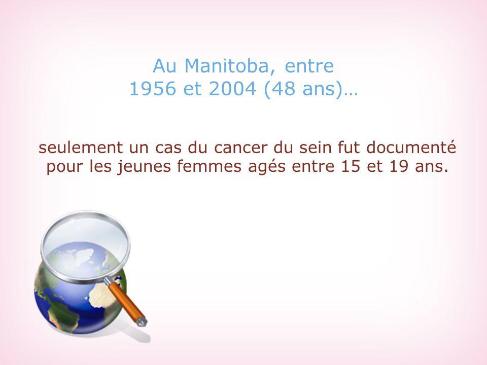 Au Manitoba, entre 1956 et 2004 (48 ans)…