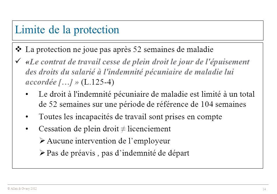 Limite de la protection