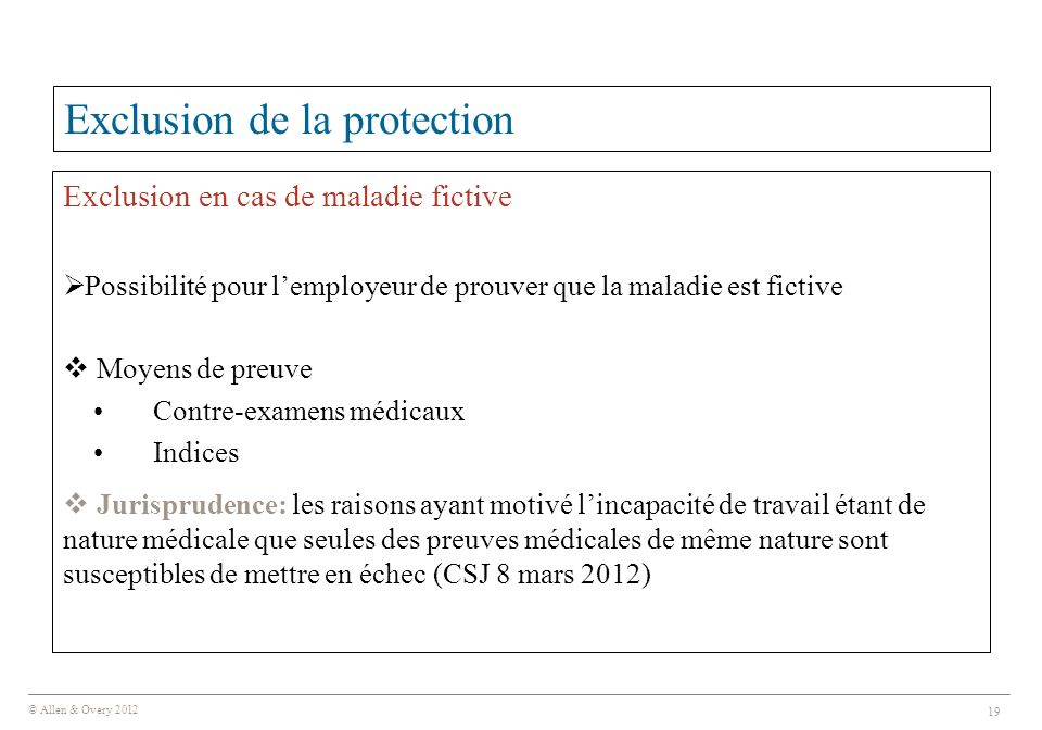Exclusion de la protection