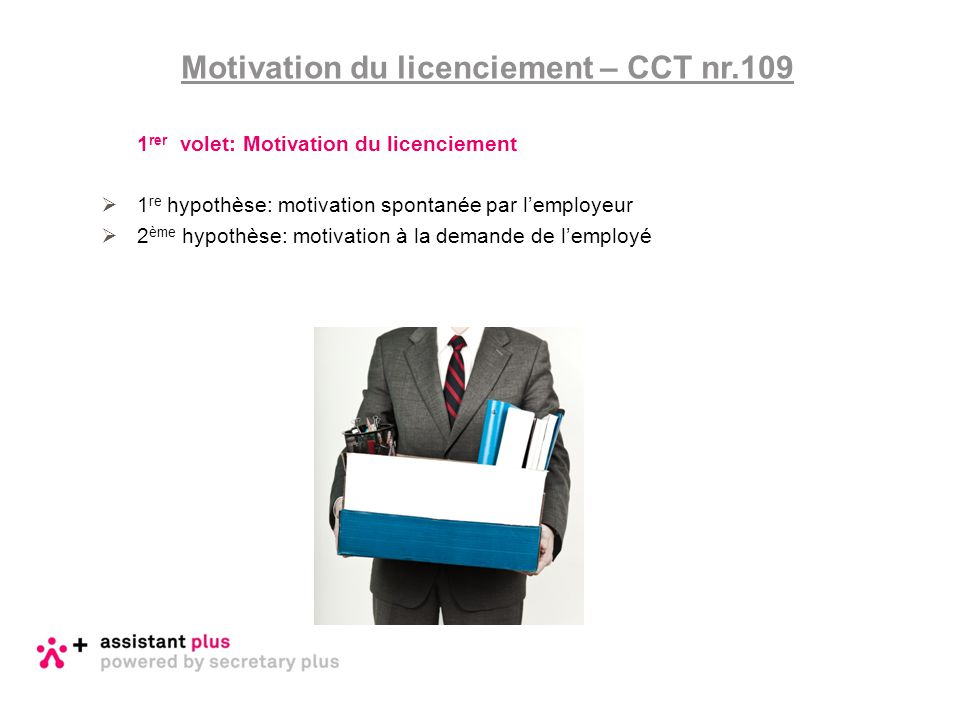 Motivation du licenciement – CCT nr.109