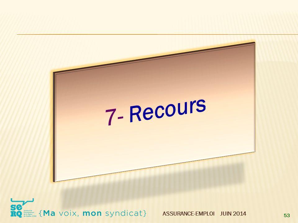 7- Recours