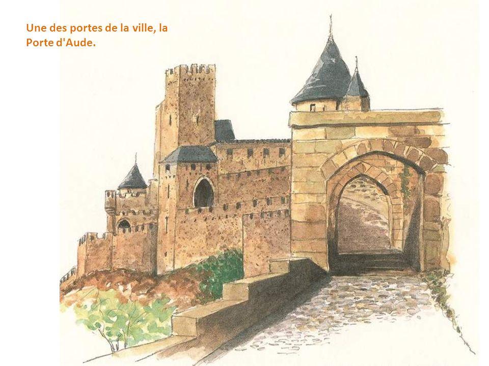 Une des portes de la ville, la Porte d Aude.