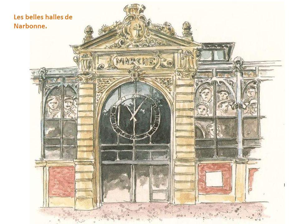 Les belles halles de Narbonne.