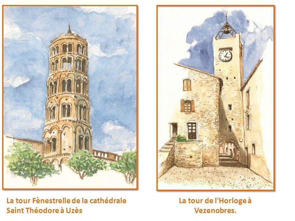 La tour de l Horloge à Vezenobres.