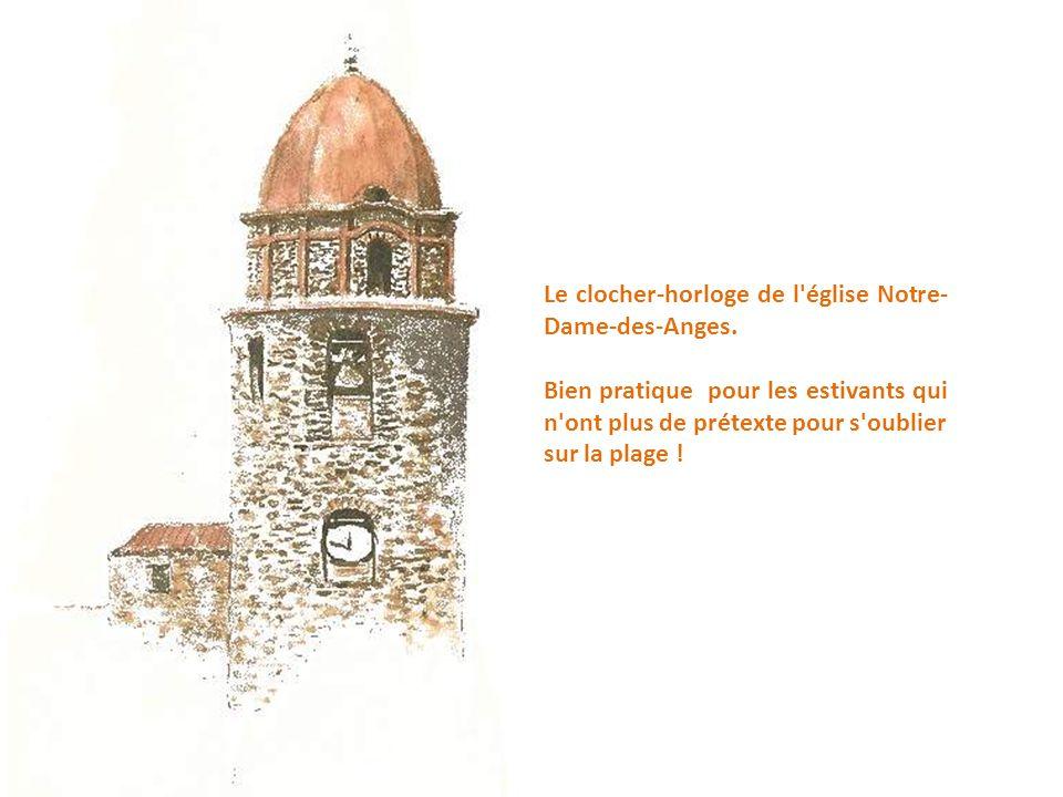 Le clocher-horloge de l église Notre-Dame-des-Anges.