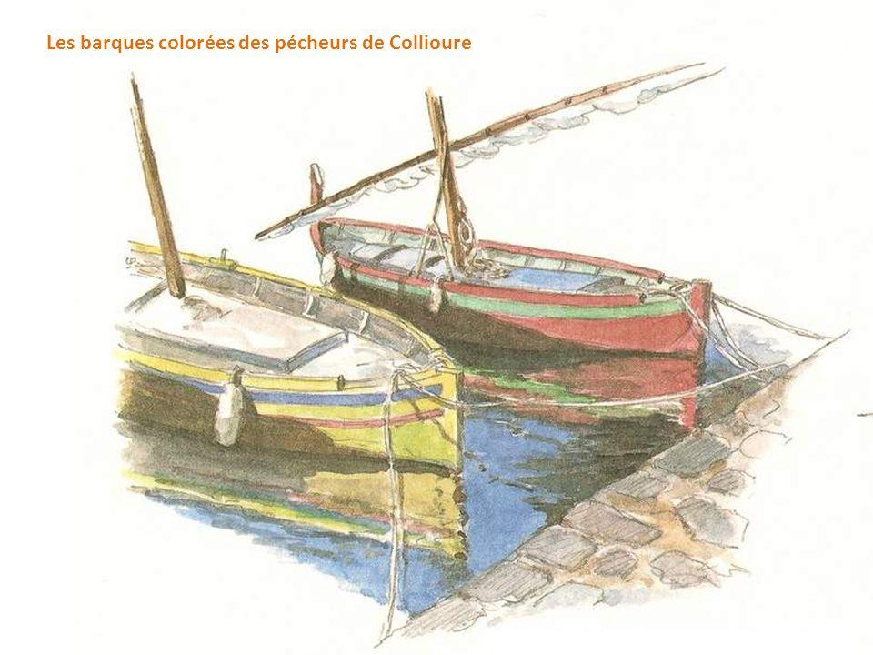 Les barques colorées des pécheurs de Collioure