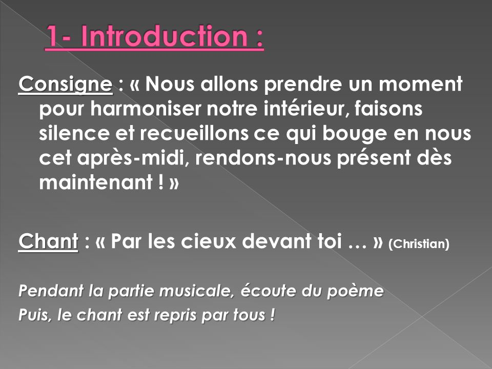 1- Introduction :