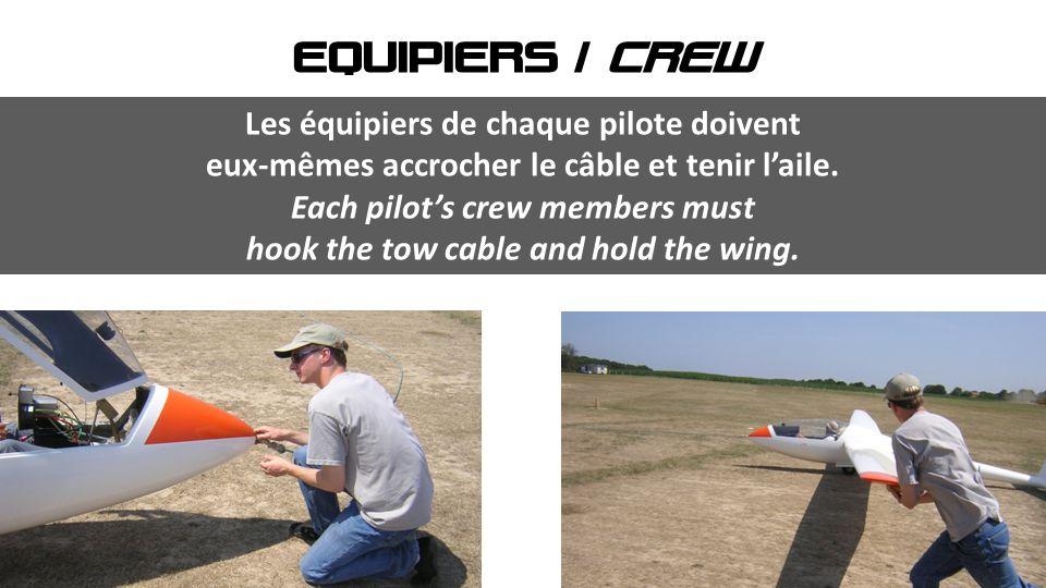 Les équipiers de chaque pilote doivent