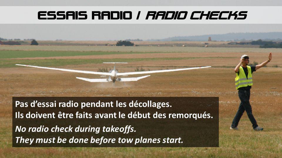 ESSAIS RADIO / RADIO CHECKS