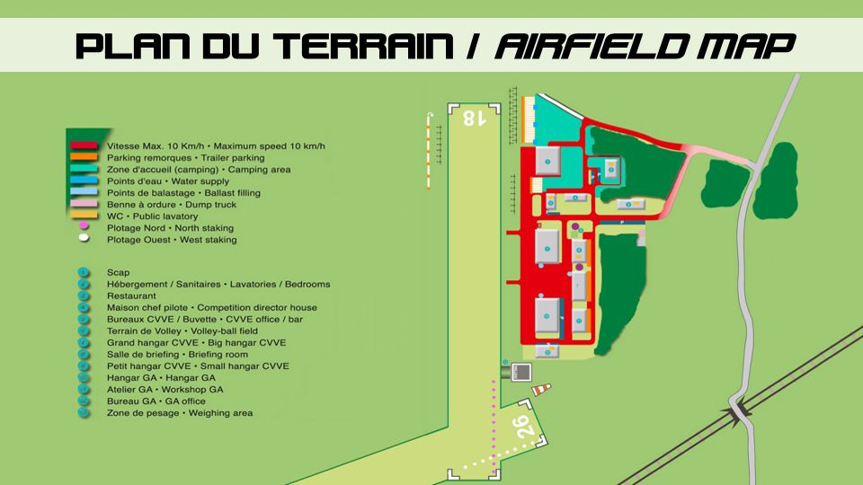 PLAN DU TERRAIN / AIRFIELD MAP