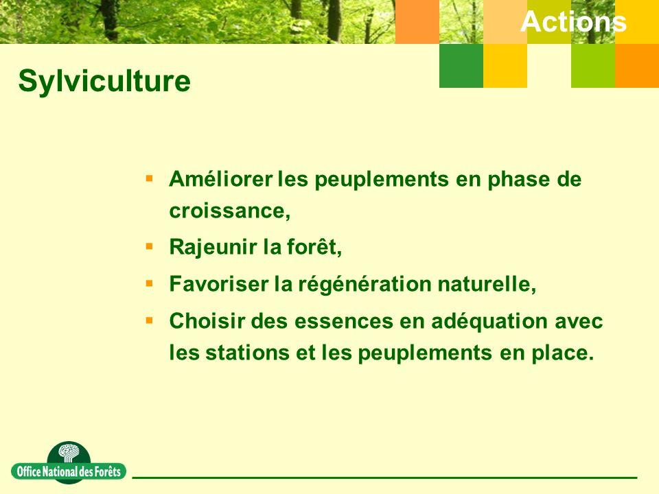 Sylviculture Actions Améliorer les peuplements en phase de croissance,