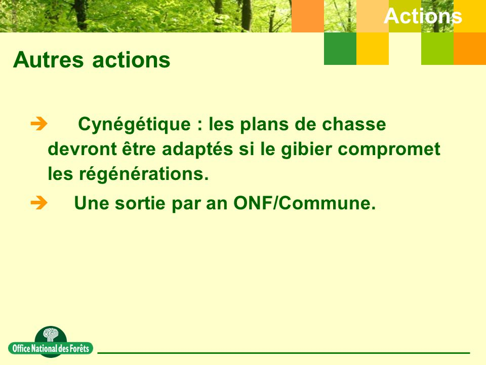 Autres actions Actions