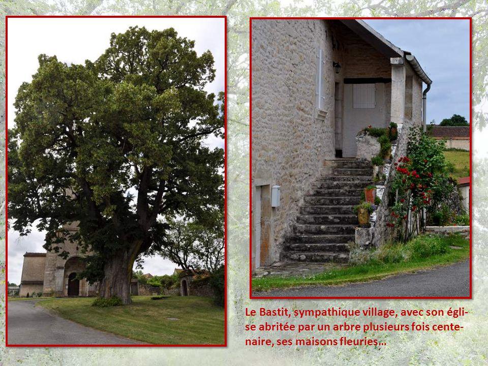 Le Bastit, sympathique village, avec son égli-se abritée par un arbre plusieurs fois cente-naire, ses maisons fleuries…