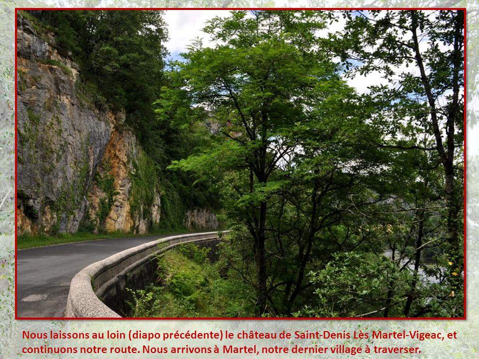 Nous laissons au loin (diapo précédente) le château de Saint-Denis Lès Martel-Vigeac, et continuons notre route.