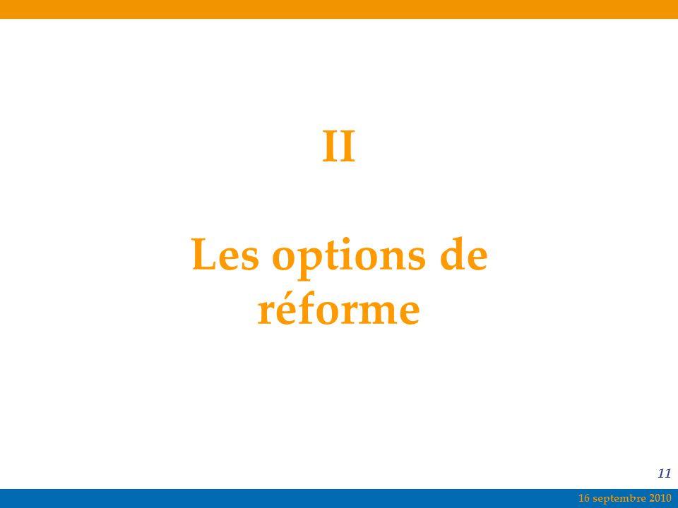 II Les options de réforme