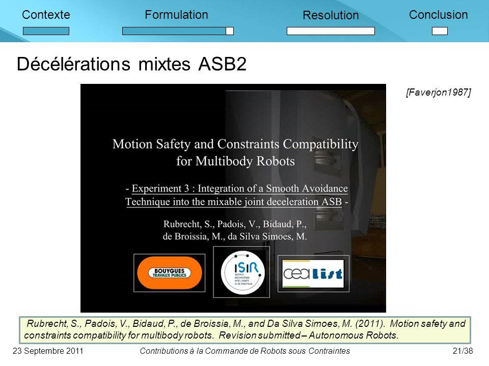 Décélérations mixtes ASB2