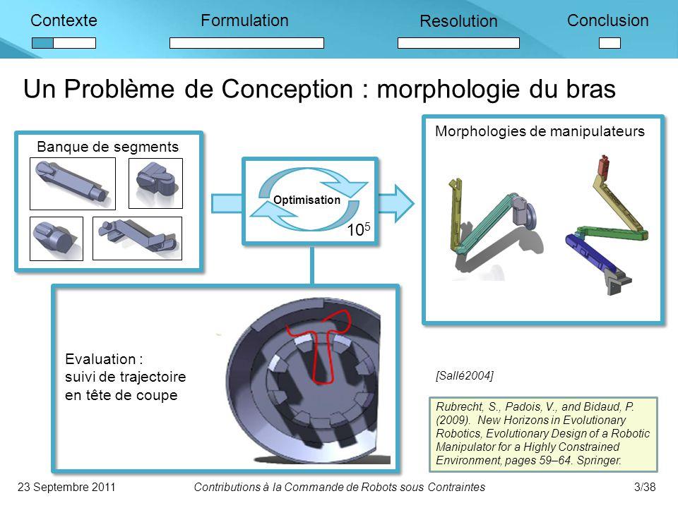 Un Problème de Conception : morphologie du bras