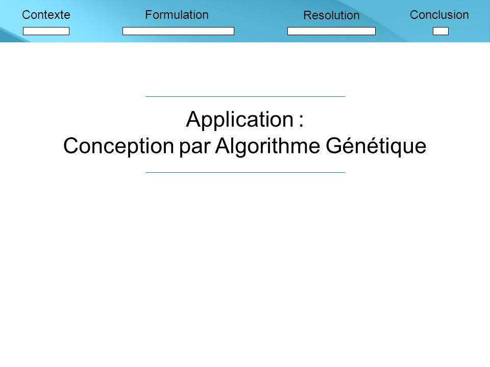 Conception par Algorithme Génétique